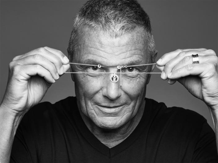 Bvlgari CEO Jean-Christophe Babin poses for the #GiveHope by Bvlgari and Save the Children campaign.