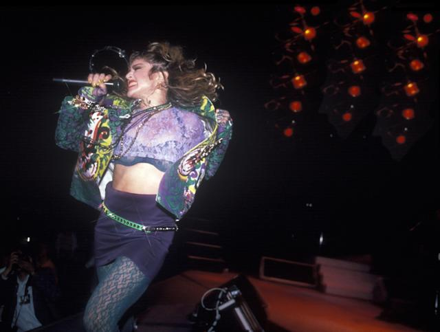 Madonna at Madison Square Garden in 1985. (Photo: Waring Abbott/Getty Images)