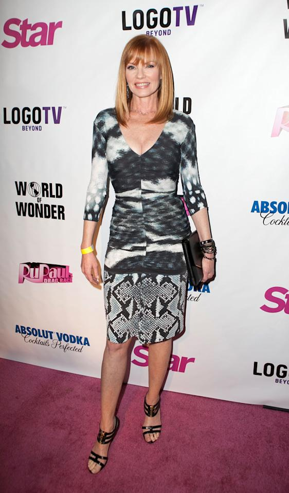 "WEST HOLLYWOOD, CA - JANUARY 22:  Marg Helgenberger arrives at ""RuPaul's Drag Race"" Season 5 Premiere Party at The Abbey on January 22, 2013 in West Hollywood, California.  (Photo by Gabriel Olsen/FilmMagic)"