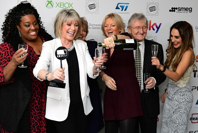 Alison Hammond with 'This Morning' co-presenters Ruth Langsford, Alice Beer and Chris Steele. (PA)