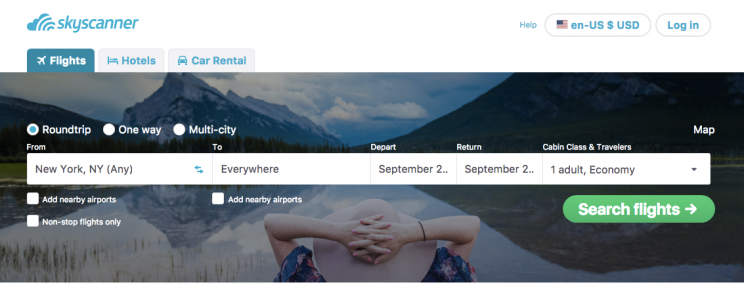 Keep your options open by setting a price alert on Skyscanner.
