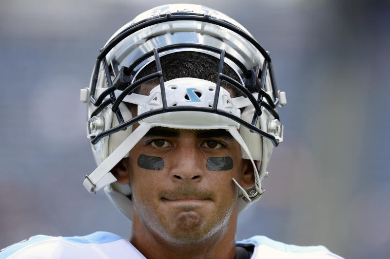 Expectations are high for Titans QB Marcus Mariota as he enters Year 3. (AP)