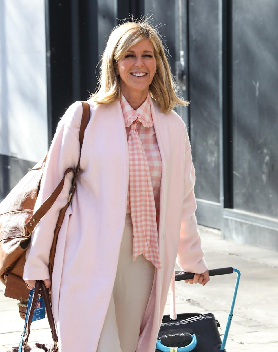 Kate Garraway seen arriving for her Smooth FM Show at the Global Radio Studios in London. (Photo by Brett Cove / SOPA Images/Sipa USA)