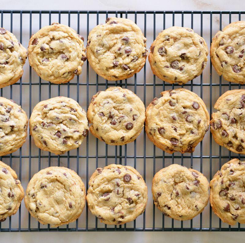 """<p>Need that perfect 3pm pick-me-up? A <a href=""""https://www.goodhousekeeping.com/uk/food/recipes/a535711/the-just-about-perfect-chocolate-chip-cookie/"""" target=""""_blank"""">chocolate chip cookie</a> (every now and again) will hit the spot! </p><p>Our love affair with <a href=""""https://www.goodhousekeeping.com/uk/food/recipes/g538635/15-of-the-best-biscuit-and-cookie-recipes/"""" target=""""_blank"""">biscuits</a> and snacking comes as no surprise, with biscuit sales in the UK hitting just over £2.6 billion in retail according to the Annual Biscuit Review 2018. </p><p>A staggering 98% of all households in the UK buy sweet biscuits yearly – so next time you reach for your usual choice of biscuit brand – why not try our winner? </p><p>You might be surprised by what you find.</p><h3 class=""""body-h3"""">How we test:</h3><p>The Good Housekeeping Institute taste test team tried eight <a href=""""https://www.goodhousekeeping.com/uk/food/recipes/a25542611/vegan-cookies/"""" target=""""_blank"""">chocolate chip cookies</a> across brands and grocers to find the perfect one to go with your next cuppa. </p><p>We looked for balanced sweetness against rich chocolate chips, and a good crunch but pleasant snap from the texture. See where your favourite placed in our test.</p>"""