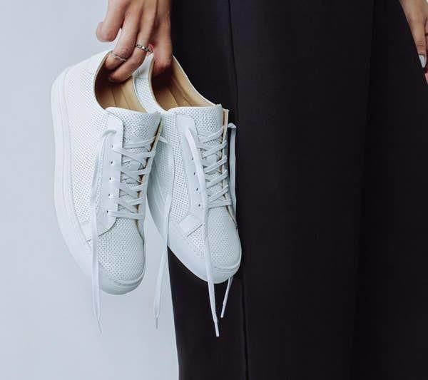 """Because we're all at a point in which we need to realize that investing in comfortable shoes is basically as important for your body as sleeping. When your feet are happy, you're happy.<br /><br /><strong>Promising review:</strong>""""This is my second pair of Greats and like the first pair, I get compliments them all the time, great quality, comfortable. I love that they take a few days to 'break-in' the leather, and even the break-in days aren't painfully, the leather is just stiffer. Plus, they're fresh white kicks, so they go with everything!"""" — Claudia D.<br /><br /><strong>Get them from Greats for<a href=""""https://go.skimresources.com?id=38395X987171&xs=1&url=https%3A%2F%2Fwww.greats.com%2Fproducts%2Fthe-royale-perforated-blanco-womens&xcust=HPSplurgeWorthy60771eb6e4b01654bb7978a0"""" target=""""_blank"""" rel=""""nofollow noopener noreferrer"""" data-skimlinks-tracking=""""5753950"""" data-vars-affiliate=""""www.pntra.com"""" data-vars-campaign=""""-SplurgeWorthyBasicsKass10-29-20-5753950"""" data-vars-href=""""https://www.pntra.com/t/TUJGR0lGTEJGTEZOR0ZCR0VLR0tJ?sid=-SplurgeWorthyBasicsKass10-29-20-5753950&url=https%3A%2F%2Fwww.greats.com%2Fproducts%2Fthe-royale-blanco-womens"""" data-vars-keywords=""""fast fashion"""" data-vars-link-id=""""0"""" data-vars-price="""""""" data-vars-redirecturl=""""https://www.greats.com/products/the-royale-blanco-womens"""" data-ml-dynamic=""""true"""" data-ml-dynamic-type=""""sl"""" data-orig-url=""""https://www.pntra.com/t/TUJGR0lGTEJGTEZOR0ZCR0VLR0tJ?sid=-SplurgeWorthyBasicsKass10-29-20-5753950&url=https%3A%2F%2Fwww.greats.com%2Fproducts%2Fthe-royale-blanco-womens"""" data-ml-id=""""37"""">$179</a>(available in sizes 6-10 and in 14 colors).</strong>"""