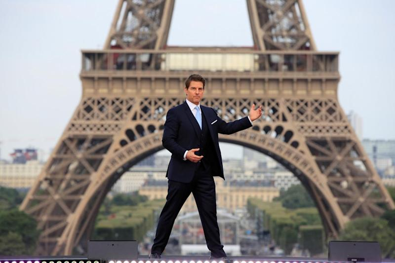 Next stunt: Tom Cruise wants to base jump off the Eiffel Tower (Reuters)