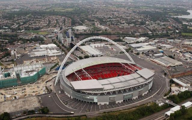 <span>Wembley is the venue for Sunday's match </span>