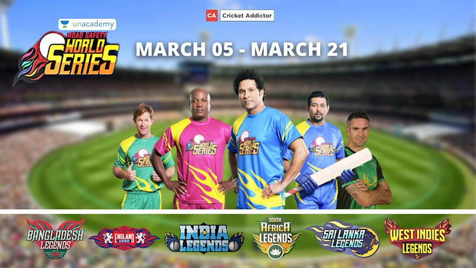 Road Safety World Series: Dates, Venue, Teams, Complete Schedule, Fixtures, Complete Squads