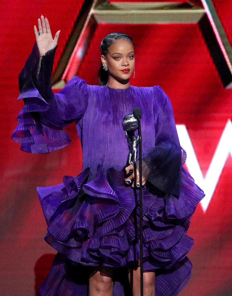 Rihanna accepts the President's Award during the 51st NAACP Image Awards at Pasadena Civic Auditorium on Feb. 22, 2020. (Photo: Rich Fury via Getty Images)