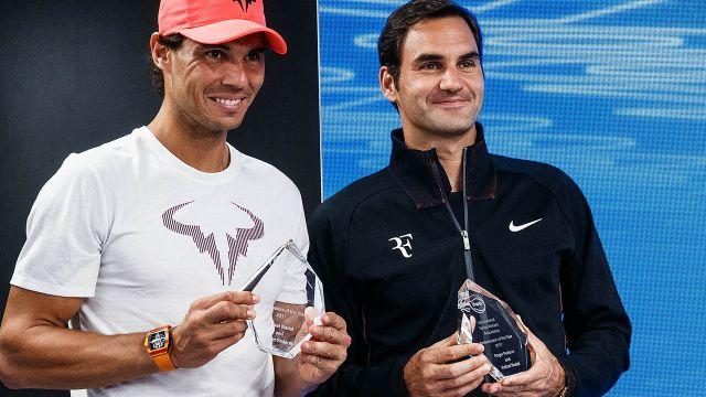 Federer can take Nadal's No.1 ranking. Image: Getty