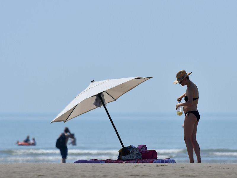 Temperatures are forecasted to reach up to 26C this weekend with every part of the UK to see sunshine: AFP/Getty Images