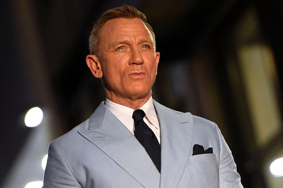 British actor Daniel Craig is honored with a star on the Hollywood Walk of Fame in Los Angeles, California, on October 6, 2021. - Craig's star will be located at 7007 Hollywood Boulevard, chosen for Craig's portrayal of James Bond in '007' films. (Photo by VALERIE MACON / AFP) (Photo by VALERIE MACON/AFP via Getty Images)