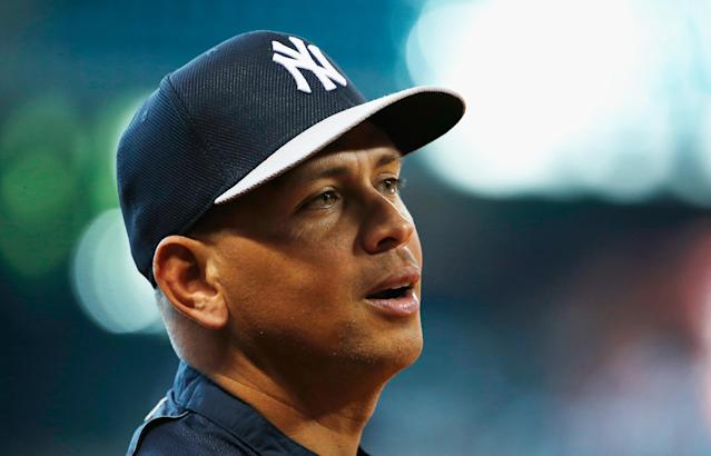 Alex Rodriguez of the New York Yankees works out on the field before a game on September 27, 2013 in Houston, Texas (AFP Photo/Scott Halleran)