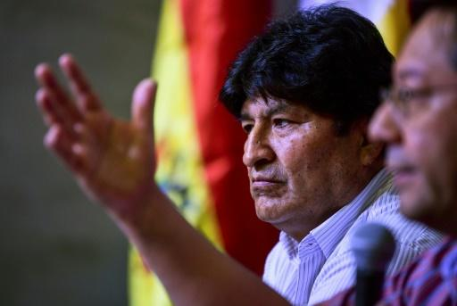 Evo Morales has been living in Argentina after resigning as Bolivia's president in November and fleeing; Morales is seen in a file image from January 27, 2020