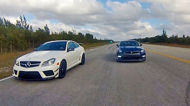Nissan Gt R Vs Mercedes C63 Amg Black Series The