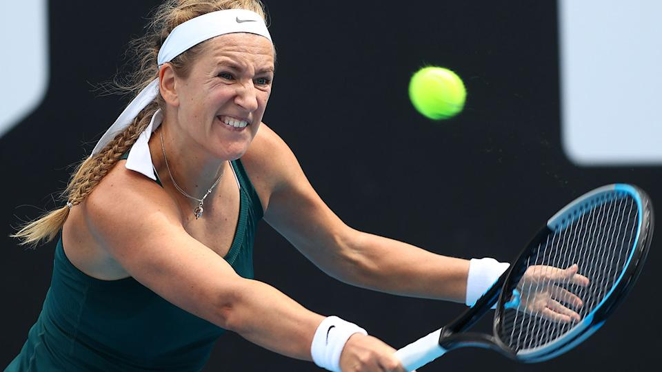 Victoria Azarenka, pictured here in action at the Grampians Trophy event.