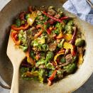 <p>With fresh broccoli, ginger, red bell peppers and plenty of fresh citrus, this healthy beef stir-fry is sure to become a favorite. And it's ready in 30 minutes, making it the perfect healthy weeknight dinner. Serve with brown rice.</p>
