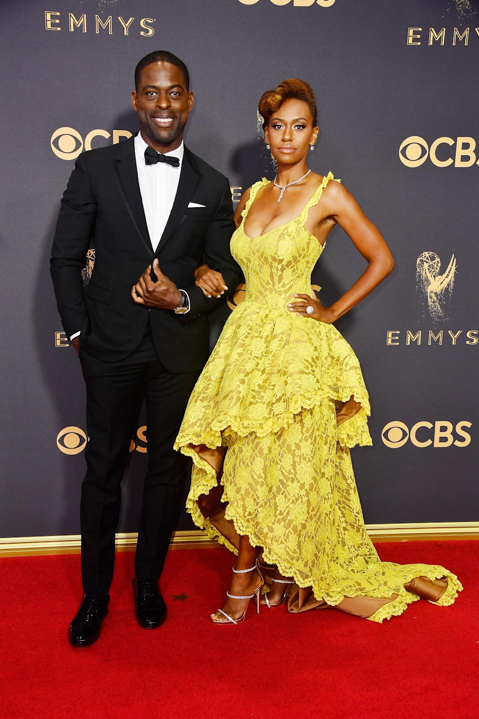 <p>Sterling K. Brown and <span>Ryan Michelle Bathe</span> attend the 69th Primetime Emmy Awards on Sept. 17, 2017.<br> (Photo: Getty Images) </p>