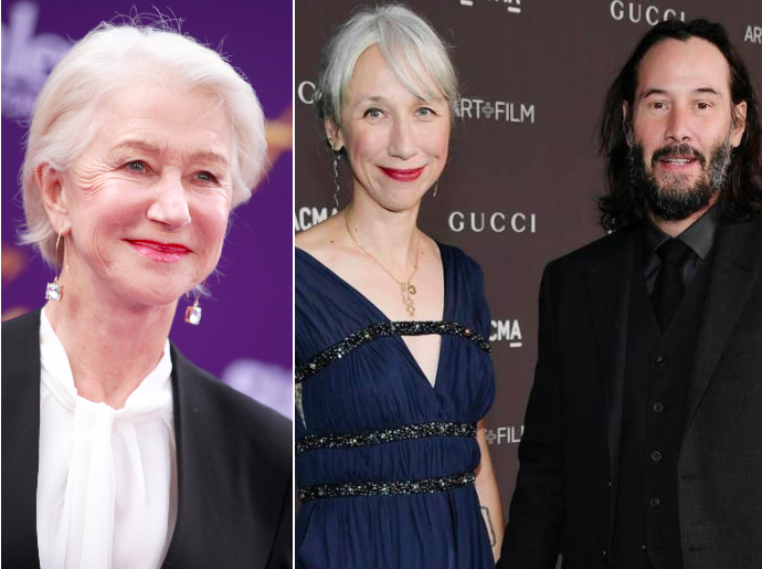 Alexandra Grant was compared to Helen Mirren on Twitter: Getty