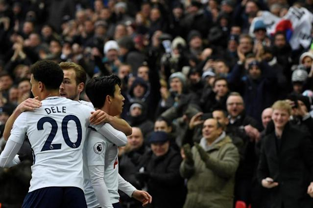 Tottenham 2 Huddersfield 0: Heung-min Son at the double as Spurs put pressure on Chelsea