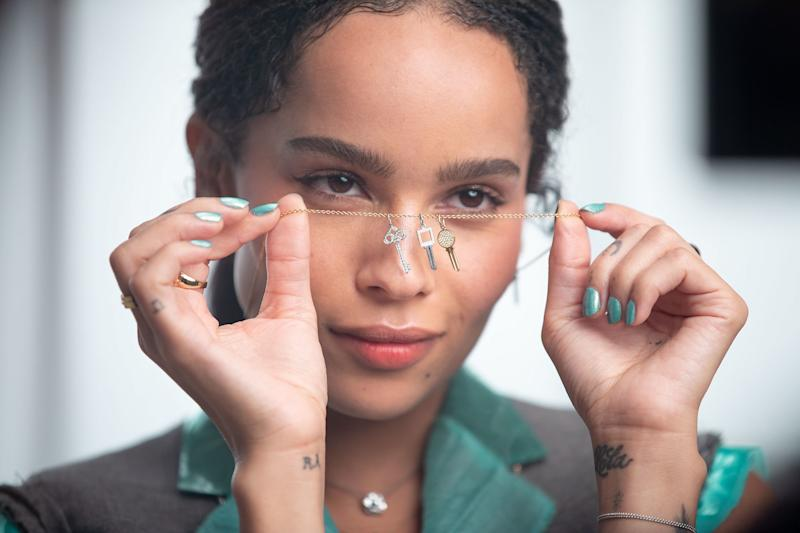 Zoë Kravitz, behind the scenes of Tiffany & Co.'s new holidays campaign.