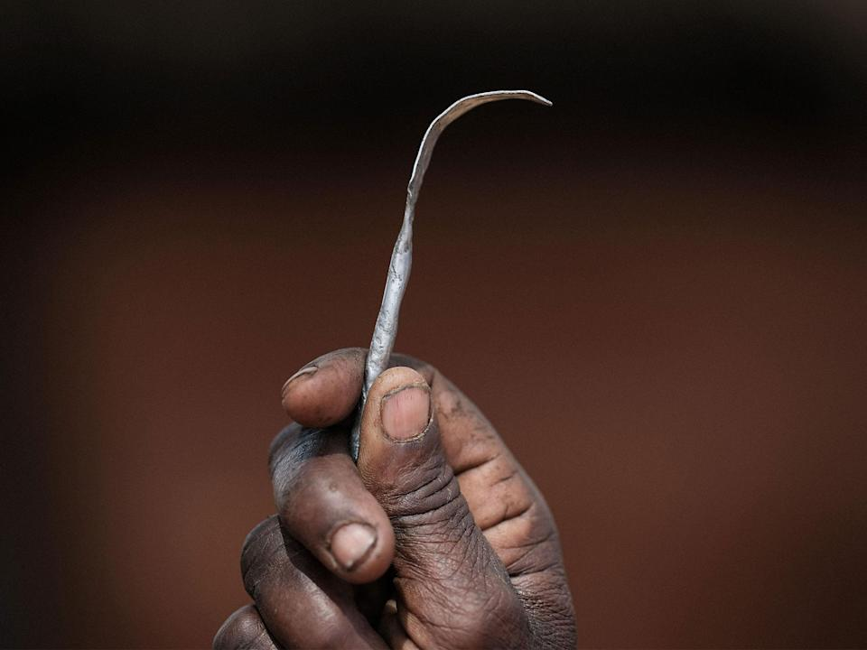 A homemade tool from a nail used for FGM (Picture: Getty)