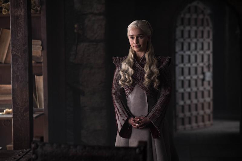 """""""You'd have a claim to the Iron Throne."""" Daenerys doesn't look saddened by this new information, instead, she seems unhappy."""