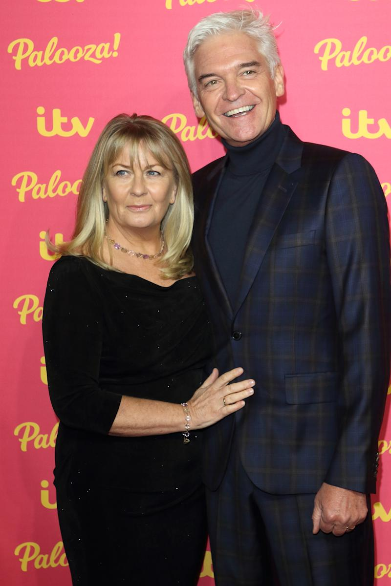 Phillip Schofield and Stephanie Lowe at the ITV Palooza at the Royal Festival Hall, South Bank (Photo by Keith Mayhew / SOPA Images/Sipa USA)