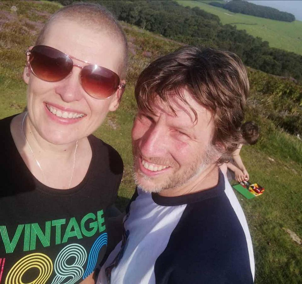 Jane pictured here with her husband, John, revamped her life after her cancer diagnosis in 2020 (Collect/PA Real Life).