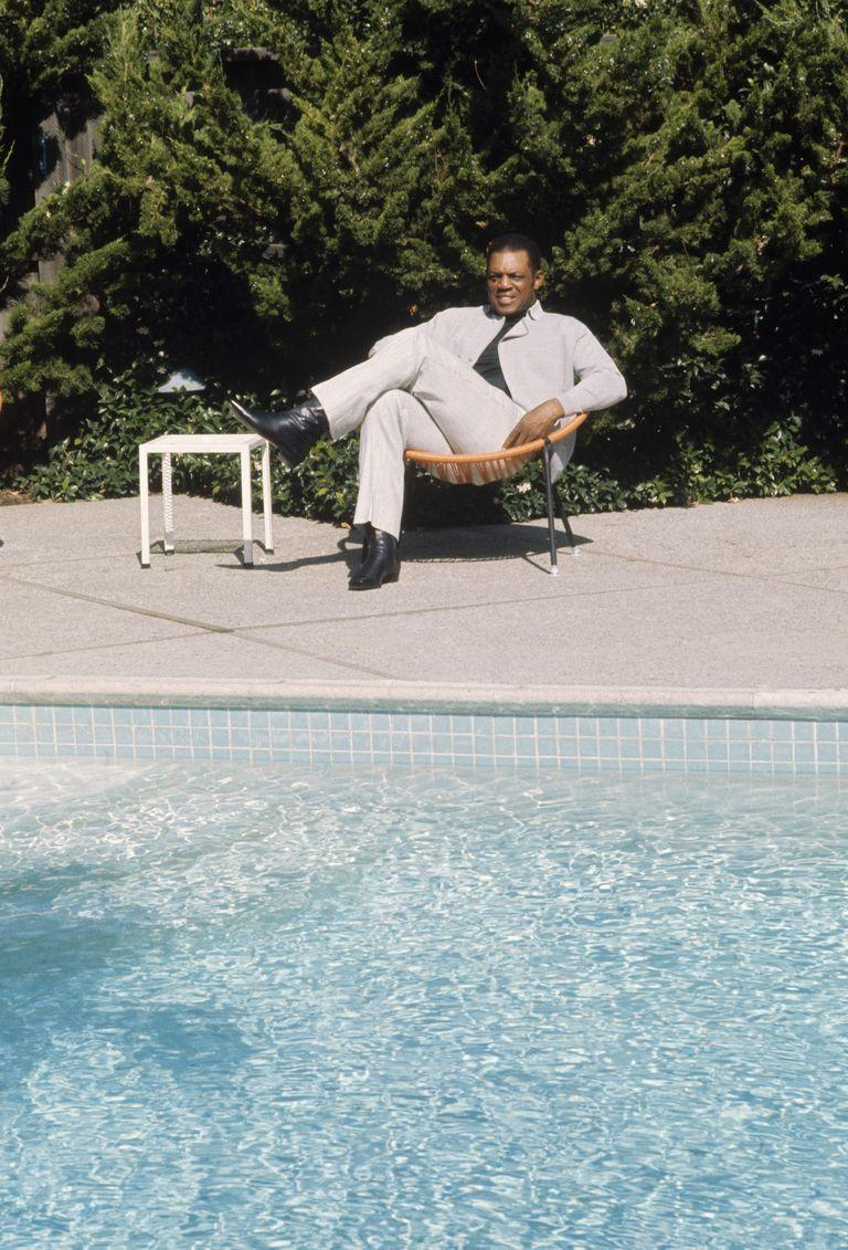 <p>San Francisco Giants outfielder Willie Mays relaxes by the pool at his home in 1960. </p>
