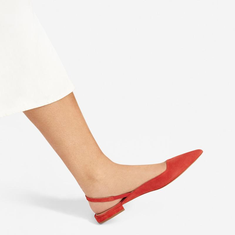 The Editor Slingback in Persimmon (Credit: Everlane)