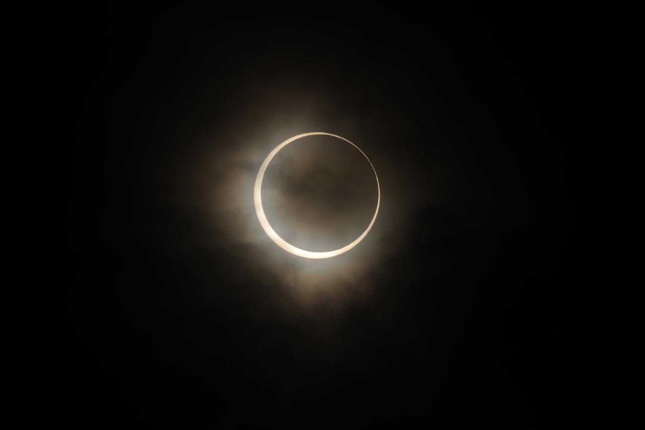 Annular Solar Eclipse is observed on May 21, 2012 in Tokyo, Japan. It is the first time in 25 years since last annular solar eclipse was observed in Japan.  (Photo by Masashi Hara/Getty Images)