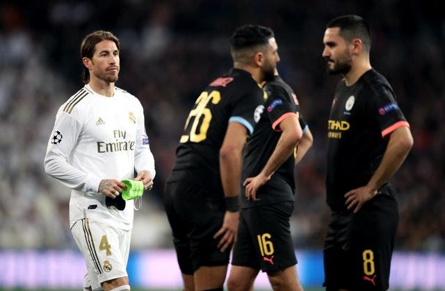 Real captain Sergio Ramos was sent off in the first leg