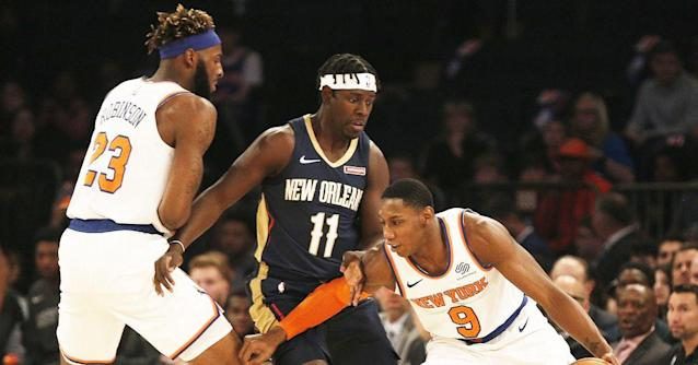 Pelicans Defeat Knicks Without Zion Williamson, 117-116.