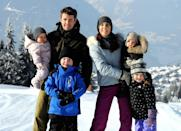 <p>February 2012: The active family enjoyed a skiing holiday in Verbier, Switzerland. Photo: Getty Images.</p>
