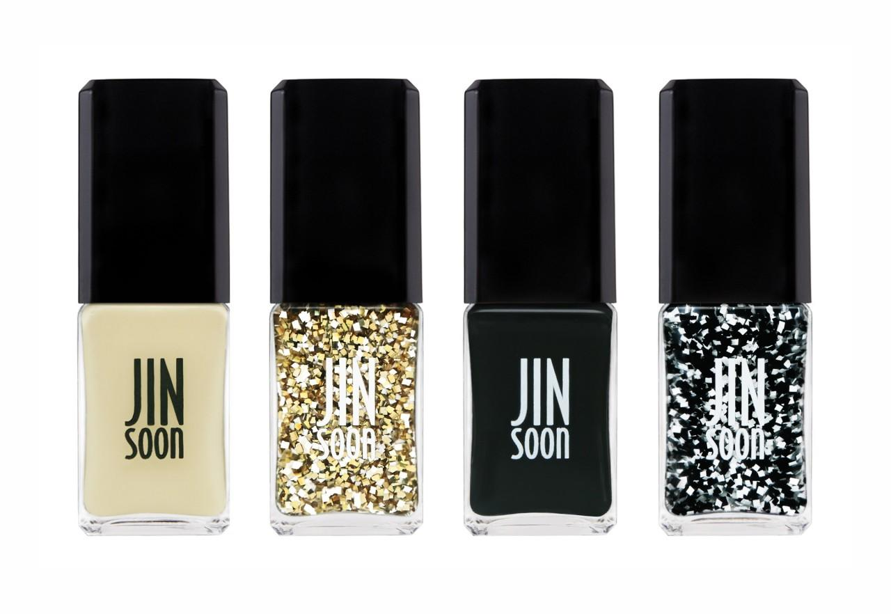 "<p>Mix and match with full-on glitter or use it as a textured accent. <b><a href=""http://www.jinsoon.com/catalog/product/view/id/54/s/toutensemble/"">Jin Soon Tout Ensemble Gift Set</a> ($48)</b></p>"