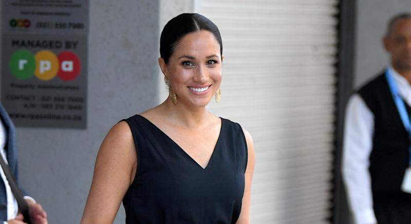 Meghan Markle wore a black jumpsuit from Everlane during the Africa tour - and now the brand are having a rare sale [Image: Getty]