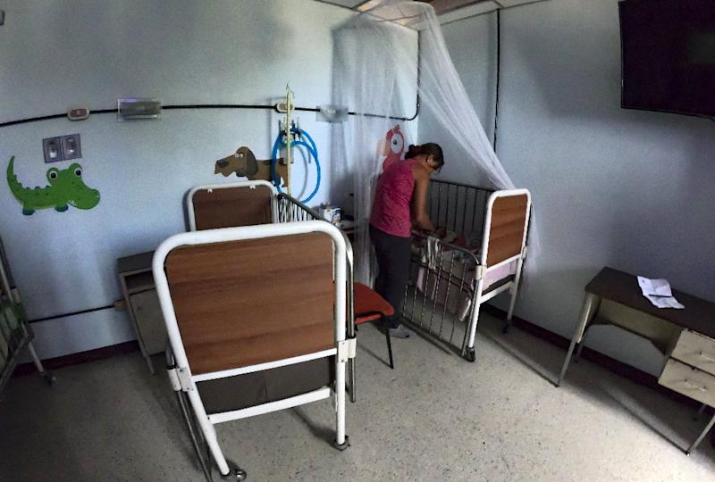 The situation in Venezuelan state hospitals is dire, with wards like this one for malnourished children in the town of Maracay lacking essential medicine and equipment