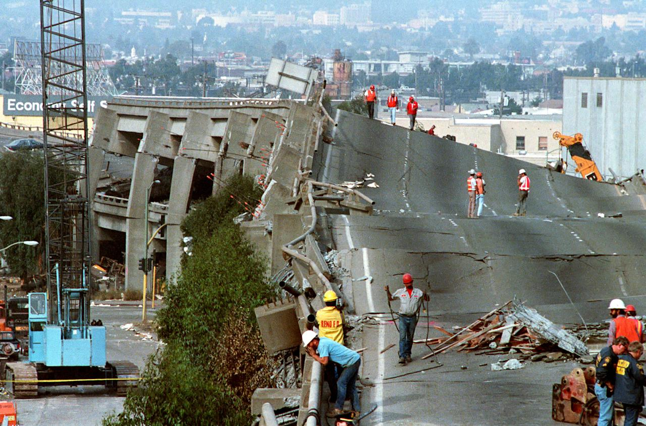 <p>A 6.9 earthquake hit the San Francisco area, forcing that week's San Francisco 49ers game against the New England Patriots to be moved to Stanford University. The quake also more famously delayed the All-Bay Area World Series between the San Francisco Giants and Oakland Athletics more than a week due to the damage done to Candlestick Park. </p>