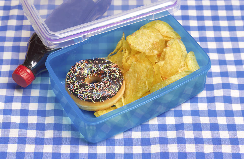 Parents are feeling guilty about what they put in their children's lunch boxes [Photo: Getty]