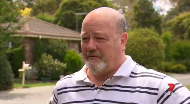 Michael Simpson was bitten by a redback while cleaning his garage. Photo: 7 News