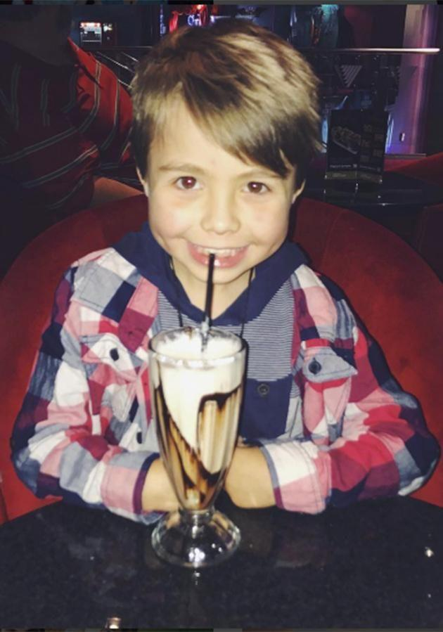 Alex said her five-year-old son Elijah (pictured) and Richie have met over FaceTime. Photo: Instagram.