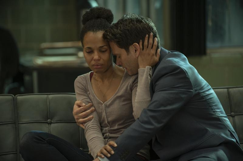 """Kerry Washington and Steven Pasquale in """"American Son""""."""