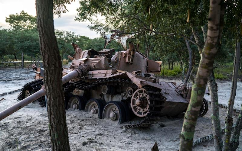 A destroyed South African tank in Cuito Cuanavale, Angola. - NYTNS / Redux / eyevine
