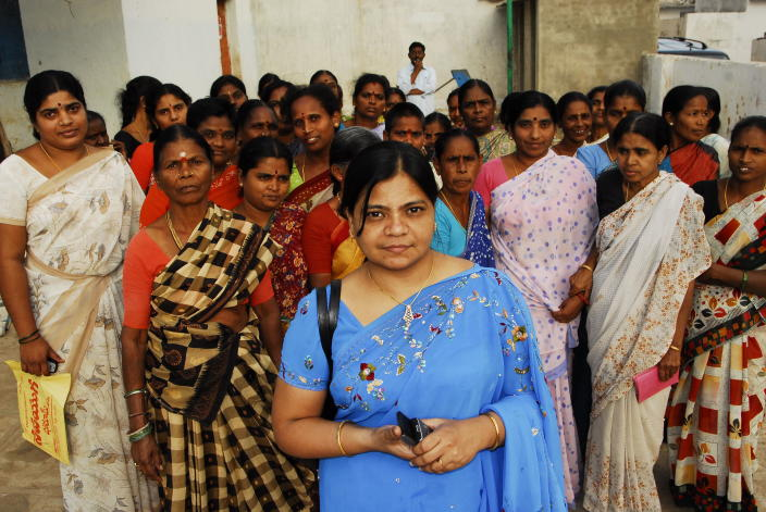 G Padmaja Reddy, Founder Director of Spandana.  (Photo by A Prabhakar Rao/The The India Today Group via Getty Images)