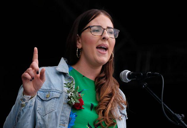 Laura Pidcock at the Durham Miners' Gala
