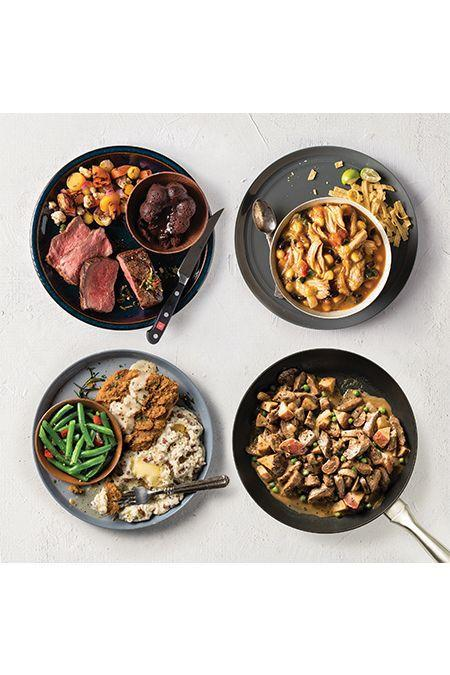 """<p><strong>Prices vary </strong></p><p>Enjoy steakhouse-style menus in the comfort of your own home with the Dinner, Solved meal plans from Omaha Steaks. Each month, choose from a selection of curated menus featuring high-quality protein and well-rounded sides. Because it's a buy-as-you-go plan rather than a subscription, you'll never get stuck with a box you forgot to cancel. </p><p><a class=""""link rapid-noclick-resp"""" href=""""https://go.redirectingat.com?id=74968X1596630&url=https%3A%2F%2Fwww.omahasteaks.com%2Finfo%2FDinnerSolved&sref=https%3A%2F%2Fwww.goodhousekeeping.com%2Ffood-products%2Fg5043%2Fbest-monthly-food-subscription-boxes%2F"""" rel=""""nofollow noopener"""" target=""""_blank"""" data-ylk=""""slk:BUY NOW"""">BUY NOW</a></p>"""