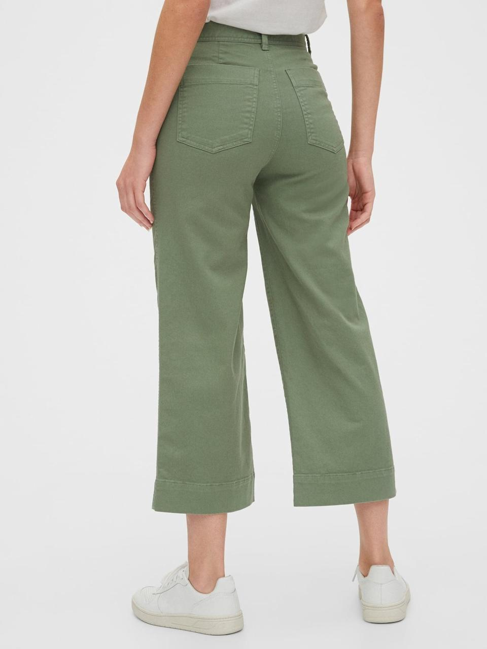 <p>These <span>Gap High Rise Wide-Leg Crop Khakis</span> ($28, originally $60) comes in several neutrals shades.</p>
