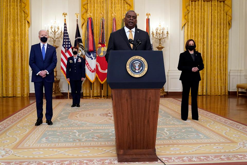 <p>Pentagon officials reportedly held back from nomination two female generals over fears of Trump's reaction</p> (AP)