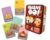 <p>Enjoy endless hours of fun with this <span>Sushi Go! - The Pick and Pass Card Game</span> ($9).</p>